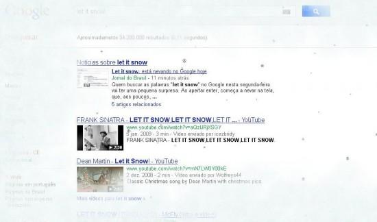 Faça nevar no Google