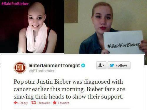 Fãs de Justin Bieber caem em pegadinha na Internet e raspam a cabeça