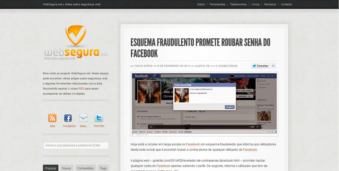 Conheça WebSegura.net
